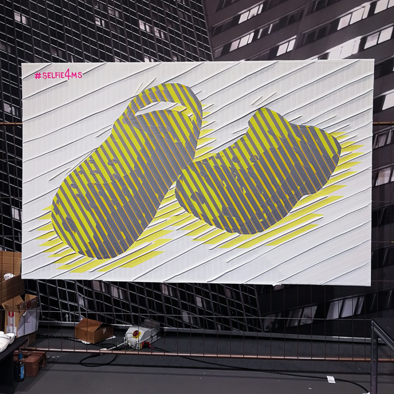 Live taping show for Crocs at the fashion fair in Berlin- Finished tape art piece