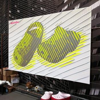 Live tape art painting show for Crocs- thumbnail