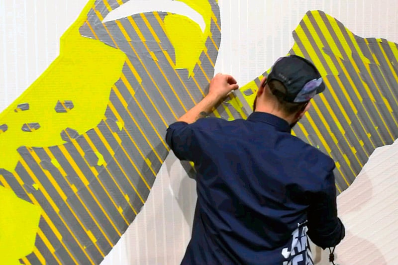 It starts with live tape art: Selfmadecrew for Crocs