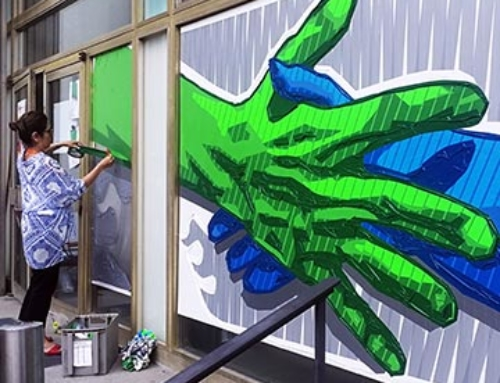 One-day Live Painting: The Handshake