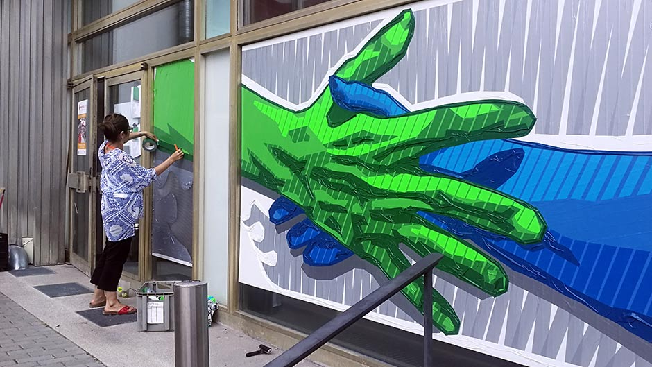 Duct and gaffer tape art by Selfmadecrew- Thumbnail for desktop